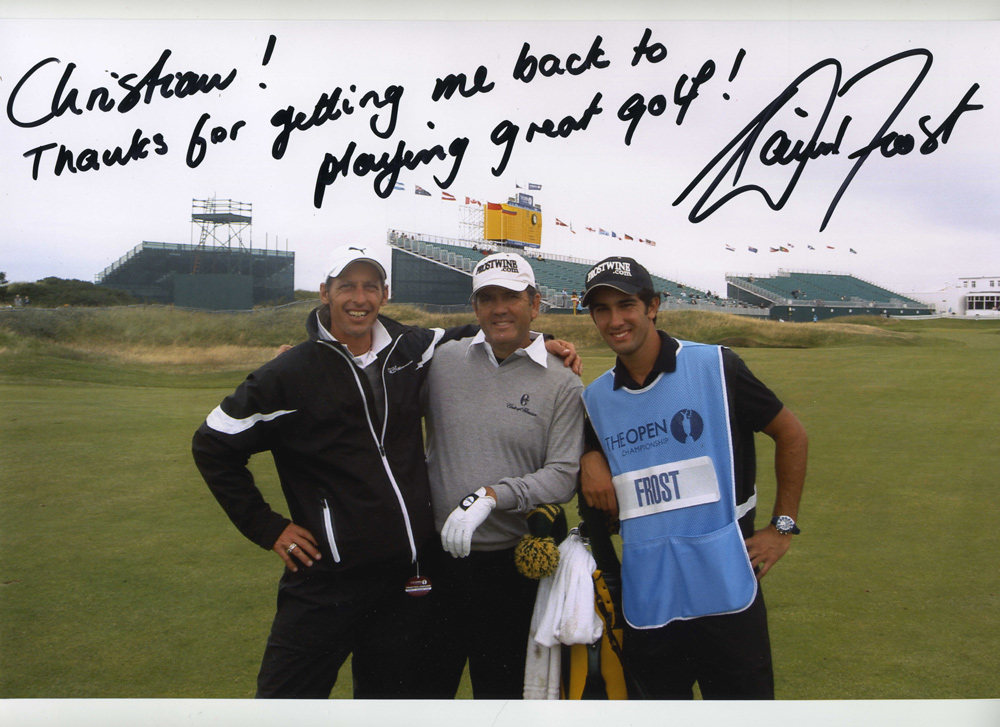 Thanks von David Frost an Coach Christian Neumaier - The Open 2008 Royal Birkdale