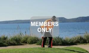 Kniebeuge mit Theraband Golf Krafttraining mal anders von Christian Neumaier