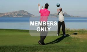 Medizinball Rumpfrotation Golf Krafttraining mal anders von Christian Neumaier