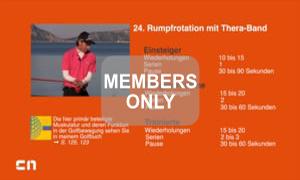 Rumpfrotation mit Theraband Golf Krafttraining mal anders von Christian Neumaier