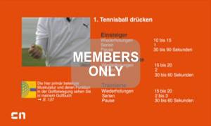 Tennisball drücken Golf Krafttraining mal anders von Christian Neumaier