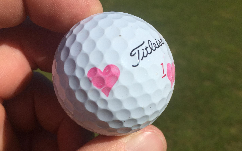 Golfspielen mit Herz