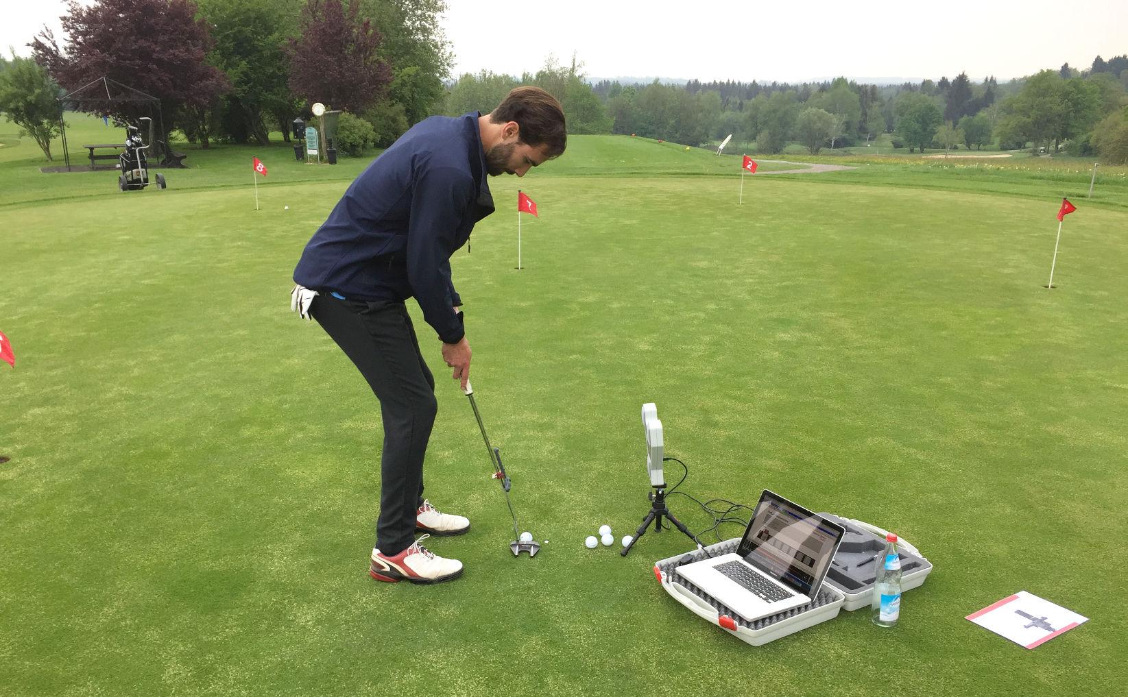 Golftraining - Putten mit dem Sam Putt Lab - Golfclub Beuerberg