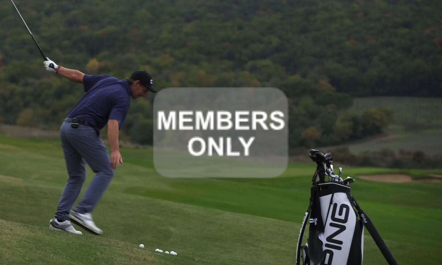 Golftraining in Schräglagen | Hanglagen im Golf lernen Videoportal erklärt | Die Balllage unterhalb